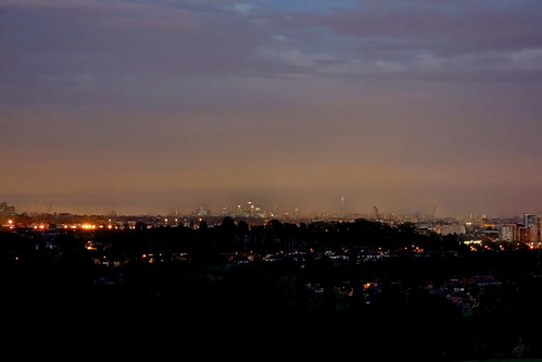 London at Night from Horsenden Hill