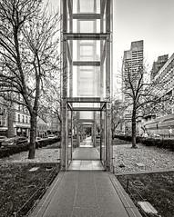 Holocaust Memorial Down Through (ken mccown) Tags: boston architecture massachusetts modernism newenglandholocaustmemorial stanleysaitowitz