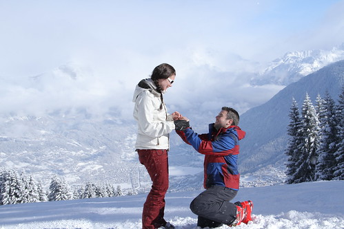 She Said Yes! - #Flickr12Days (44659150@N07), photography tags:  snow cold landscape vista proposal saintgervais flickr12days