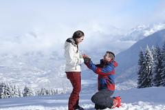 She Said Yes! - #Flickr12Days (adequatelyaverage) Tags: snow cold landscape vista proposal saintgervais flickr12days