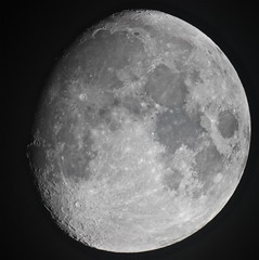 Waxing Gibbous Moon 13/12/2013 (Sarah and Simon Fisher) Tags: