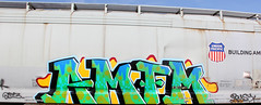 (Runtrains) Tags: train graffiti busy freight amfm