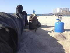 Sandwood bay - '9ml of butane will boil a litre of water' - Lightweight Paul