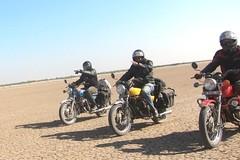 ". (Yazed RD350 Lord) Tags: blue red bike yellow ride motorcycles roadtrip biking motorcycle yamaha hvk motorcycling kutch rann rd350 2013"" ""aim"
