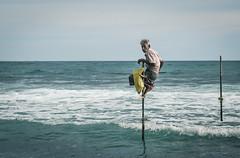 Sri Lankan Fisherman (daniel.frauchiger) Tags: sea portrait water lumix fisherman waves olympus panasonic explore sri lanka f18 45mm explored gx7