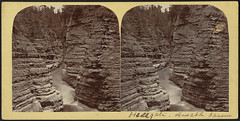 Ausable River, N. fork (Boston Public Library) Tags: rivers canyons bostonpubliclibrary rockformations bpl stereographs photographicprints