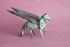 Pegasus by Dong Viet Thien (ronatka) Tags: horse origami pegasus tissuefoilpaper origamishopcom dongvietthien
