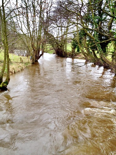 The River Alyn (Welsh: Afon Alun) Caergwrle Flintshire North Wales. 6/2/2014
