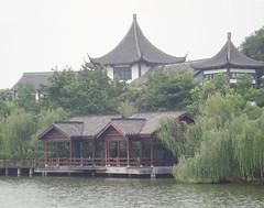 Beautiful architecture in JiangNan (hawkdisplays) Tags: china tree water beautiful architecture landscape scenery creative willow pavilion jiangnan