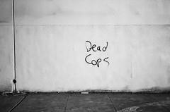 dead cops (thetacobelljar) Tags: blackandwhite film analog oakland olympusstylusepic pointandshoot