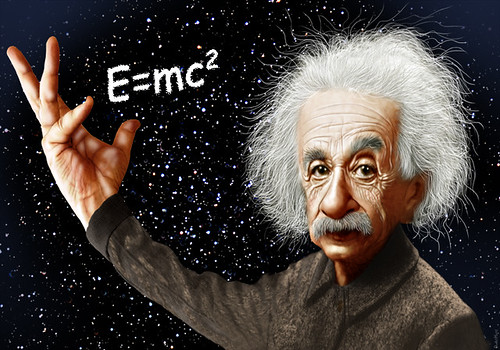 Albert Einstein - Caricature by DonkeyHotey, on Flickr