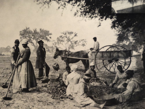 Fort Sumter museum. Photograph of slavery.
