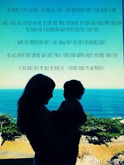 My promise to my son (Yulily) Tags: ocean blue boy sunset cute love beach boys beautiful kids children nice quote mother son quotes okinawa promise shilhouette uploaded:by=flickrmobile flickriosapp:filter=nofilter