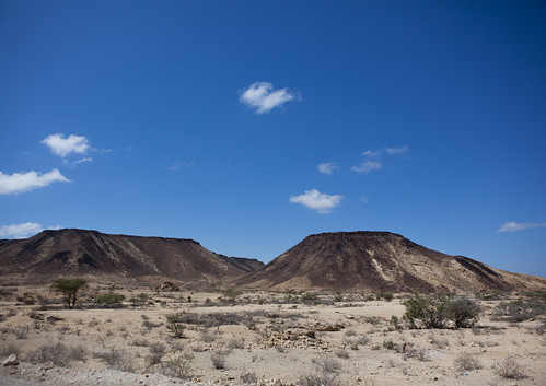 Landscape Of Small Mountains In A Desertified Area, Berbera Area, Somaliland