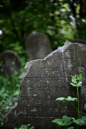 Broken tombstone