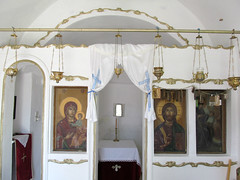 Chapel of Ag. Irene Chrysovalantou (pefkosmad) Tags: church worship hellas chapel icon greece greekislands griechenland rodos rhodes greekorthodox greekorthodoxchurch placeofworship dodecanese holydoors mesanagros iconastasis rhodes2015 agirenechrysovalantou