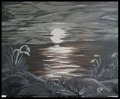 Kunst (claudia.Bos) Tags: kunst meer acrylmalerei bild sonnenuntergang