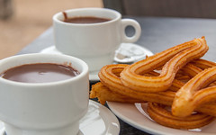 Chocolate and Churros (anthsnap!) Tags: madrid spain chocolateandchurros chocolate churro drink
