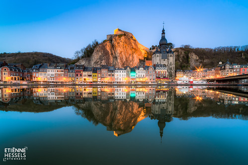 Blue hour in Dinant. Belgium
