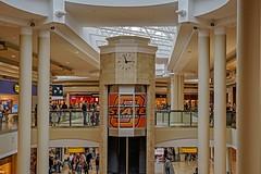 Almost 3:00 (brev99) Tags: colorefex topazdenoise nikoutputsharpener niksoftware d610 nikon50mmf18d mall tulsa oklahoma woodhillsmall clock elevatur shoppers columns