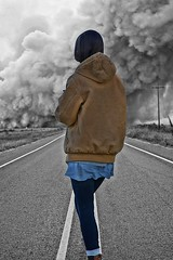 What Do You Do (Scott 97006) Tags: dust storm danger woman female lady road highway choices decision smoke fire