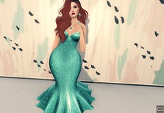 Almost A Mermaid (Cryssie Carver) Tags: secondlife second life sl avatar theliaisoncollaborative the liaison collaborative whimsical justbecause just because plastik besom league alaskametro rama anlarposes an lar poses ikon catwa maitreya