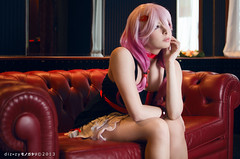 Inori - Guilty Crown (YurikoTiger.com) Tags: pink hot anime cute love beautiful japan hair japanese tokyo cool model italian perfect cosplay tiger manga wig idol kawaii crown akihabara cosplayer otaku yuriko guilty    supercell yuzuriha fumettopoli   inori  cosmode  nicecosplay yurikotiger