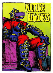 R. Crumb Trading Cards - Vulture Demoness (oerendhard1) Tags: art robert illustration comics underground cards comic drawing humor cartoon collection trading comix characters vulture crumb rcrumb stripverhaal demoness undergroundcomics stripfiguur oerendhard