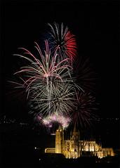 Fireworks & Cathedral of Leon (dnieper) Tags: españa spain fireworks león fuegosartificiales catedraldeleón cathedralofleon