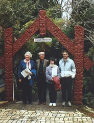 Mary Ellen Rudin, Walter Rudin & friends at Te Warioa Burned Village site, New Zealand, mid-1990s (ali eminov) Tags: mathematicians friends newzealand