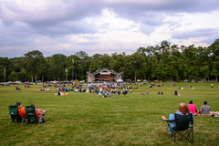 Relaxing on the Hill (WayNet.org) Tags: summer concert chair seasons unitedstates stage hill crowd lawn indiana places things richmond beatles bandshell pavillion locations coverband waynecounty glenmillerpark waynet parksrec sweetbeats roosevelthill