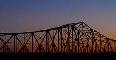 Browns Bridge Sunset (davidwilliamreed) Tags: longexposure sunset silhouette georgia nightshot availablelight afterdark lakelanier forsythcounty hallcounty brownsbridge