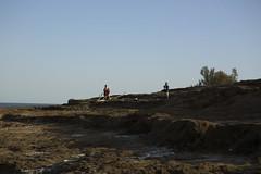 (Caitlin H. Faw) Tags: light shadow sea portrait color june standing canon landscape photography eos israel photo women 5d medium format jaime deadsea photographing sivan markiii 2013 caitlinfaw caitlinfawphotography