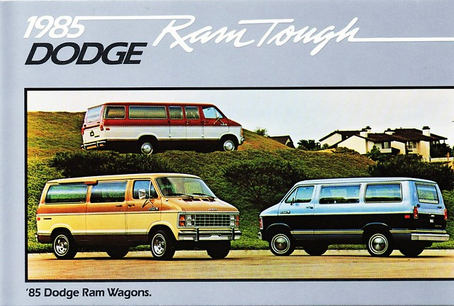 wagon postcard dodge ram 1985