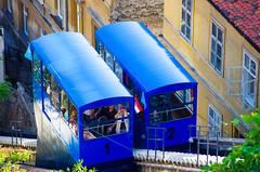 1, 2, Uspinjaa (lift) Zagreb (Tomislav C.) Tags: city roof people urban tourism church birds town lift pentax top pigeons croatia testing zagreb svetimarko uspinjaa k5ii
