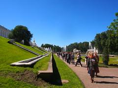 The Lower Park, Peterhof, St Petersburg (ChihPing) Tags: travel blue stpetersburg russia petersburg olympus omd peterhof     em5