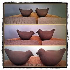 Fazendo passarinhos... (cris couto 73) Tags: ceramica bird ceramic handmade passarinho clay pottery criscouto