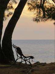 Sea View (robin denton) Tags: travel sunset sea seascape silhouette bench seat croatia rovigno rovinj seaview istria travelphotography istri redisland croatzia otocicsvetiandreja