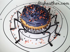 Cupcake Spider (Digital Heather) Tags: food halloween idea cupcakes baking yummy cupcake sprinkles ideas