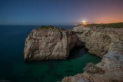 The cliffs at Farol de Alfanzina (B_Olsen) Tags: longexposure portugal nightimages cliffs midnight nightsky carvalho benagil 2013 nikkor1424mm nikond800 bolsen13 fullmoonalgarve