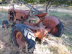Old Case Tractor (Patricia Henschen) Tags: ranch colorado case rush thenatureconservancy lincolncounty easternplains casetractor brettgrayranch