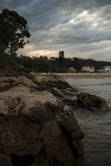 Umina Rock Sunset. Sigma 18-35 f/1.8 + Canon 70d (Puresilk Images (AWAY)) Tags: ocean sunset sea cloud beach rock wall canon coast rocks central sigma australia u nsw f18 18 centralcoast umina 1835 70d eos70d