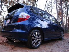 IMG_1463 (Dan Correia) Tags: belchertown reflection car honda fit topv111 topv333 topv555 topv777