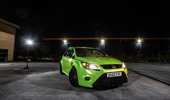 Focus RS (Niall97) Tags: blue hot cars ford car canon eos warrington focus limegreen flash performance fast clio automotive racing renault turbo 200 l 5d hatch rs 1740mm f4 markii renaultsport screwfix aliengreen 600ex vision:outdoor=0937 vision:dark=0755
