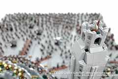 The Lord Of The Rings : The Battle of Helm's Deep (Brickmaster_Kor) Tags: lego lord exhibition rings busan helm brickmaster