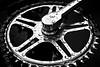 Spots on a cog (tootdood) Tags: blackandwhite rain bike manchester spots cycle cog stannssquare pentaxk200d monovember