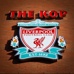 The Kop (goodbyetrouble) Tags: road uk england sign wall liverpool stand football stadium stadion fc premier league kop anfield tribüne