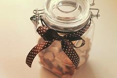 ~cookie jar~ (majagrilj) Tags: christmas food cookies photography yummy cookie polka dot bow jar
