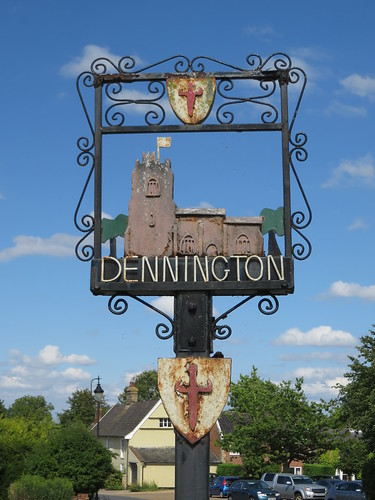 The village sign, Dennington, Suffolk, England