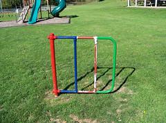 OH Lower Salem - Playground (scottamus) Tags: old ohio playground vintage gate furniture equipment swinging washingtoncounty lowersalem